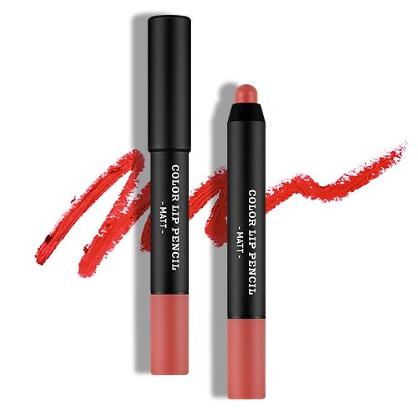 二度逸脱うれしい[韓国コスメ Apieu] [オピュ] カラーリップペンシル(マット) [Apieu] Color Lip Pencil(Matt) (CR01) [並行輸入品]