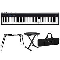ROLAND FP-30 BK 電子ピアノ KS-060 スタンド キーボードベンチ キーボードケース付き 4点セット