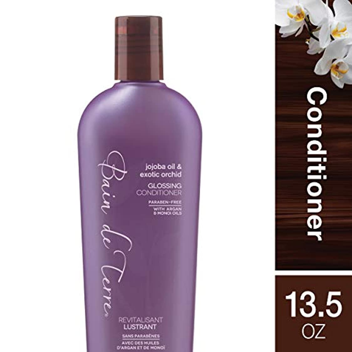 枢機卿ディスパッチ行列Bain De Terre Jojoba Oil Exotic Orchid Glossing Conditioner - 13.5 oz