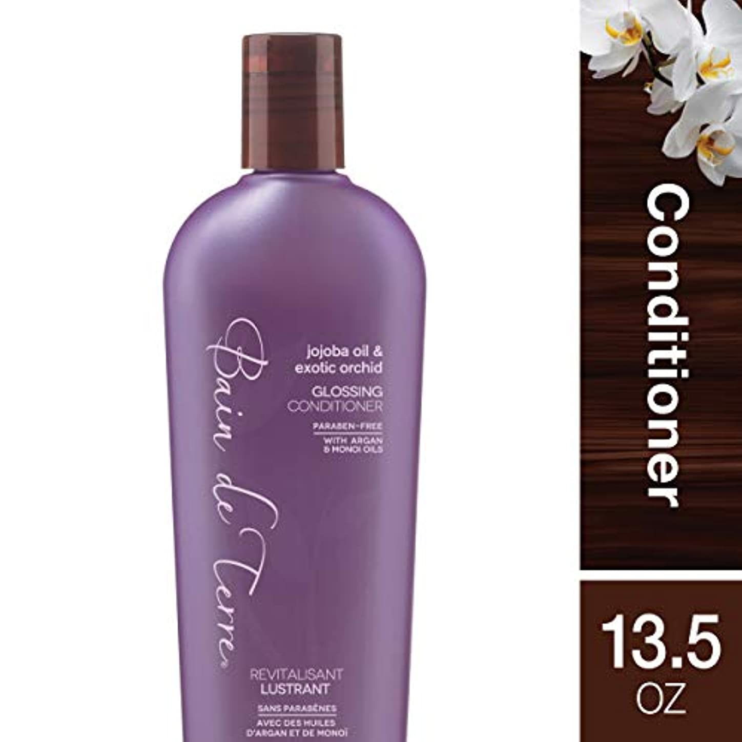 調子シビックわなBain De Terre Jojoba Oil Exotic Orchid Glossing Conditioner - 13.5 oz