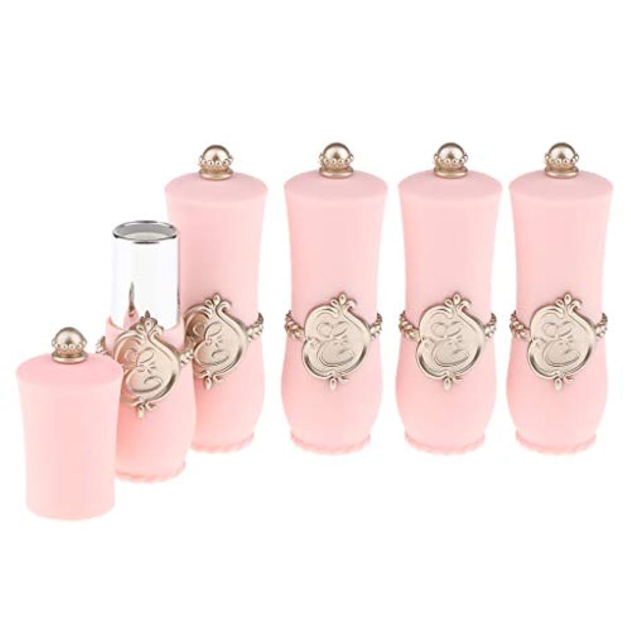 地球岩散髪CUTICATE 口紅サンプル リップ クリーム チューブ 小分けボトル リップスティック 口紅 包装材料 全2色 - ピンク