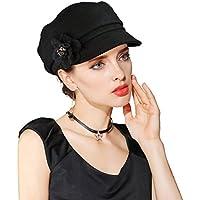 Beret Hats for Women, EINSKEY Ladies Wool Felt Cloche Hat Newsboy Cap