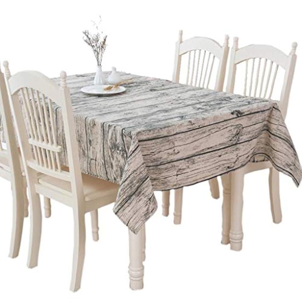 大いにお酢しないでくださいLPKH テーブルクロス コットンリネン、牧歌的な模造樹皮木目テーブルテーブルリネンテーブルクロス*キッチン (Size : 140*220cm)