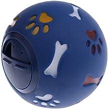 Baoblaze PET CAT Dog Play Ball Treat Dispenser Interactive Toy Food Feeder Dispenser New - Blue S