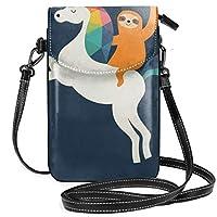 マジックタイム レディース、女の子用ショルダーストラップ付きクロスボディ財布携帯電話財布ミニショルダーバッグ