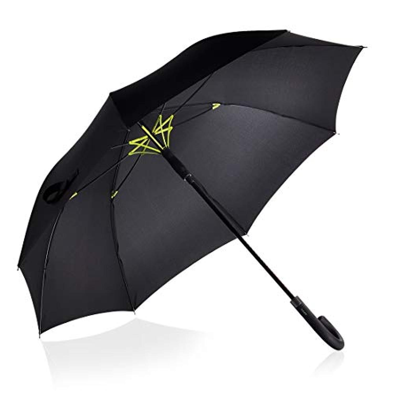 二層傘骨構造 Valife 長傘 大雨対応 テフロン撥水 グラスファイバー ワンタッチ 梅雨 頑丈 紳士傘 ゴルフ用傘 メンズ