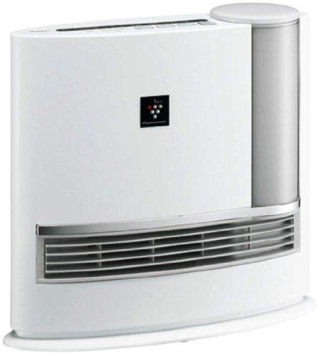 SHARP 加湿セラミックファンヒーター 「プラズマクラスターイオン技術」 暖房最大8畳/加湿最大14畳 ホワイト系 HX-128CX-W