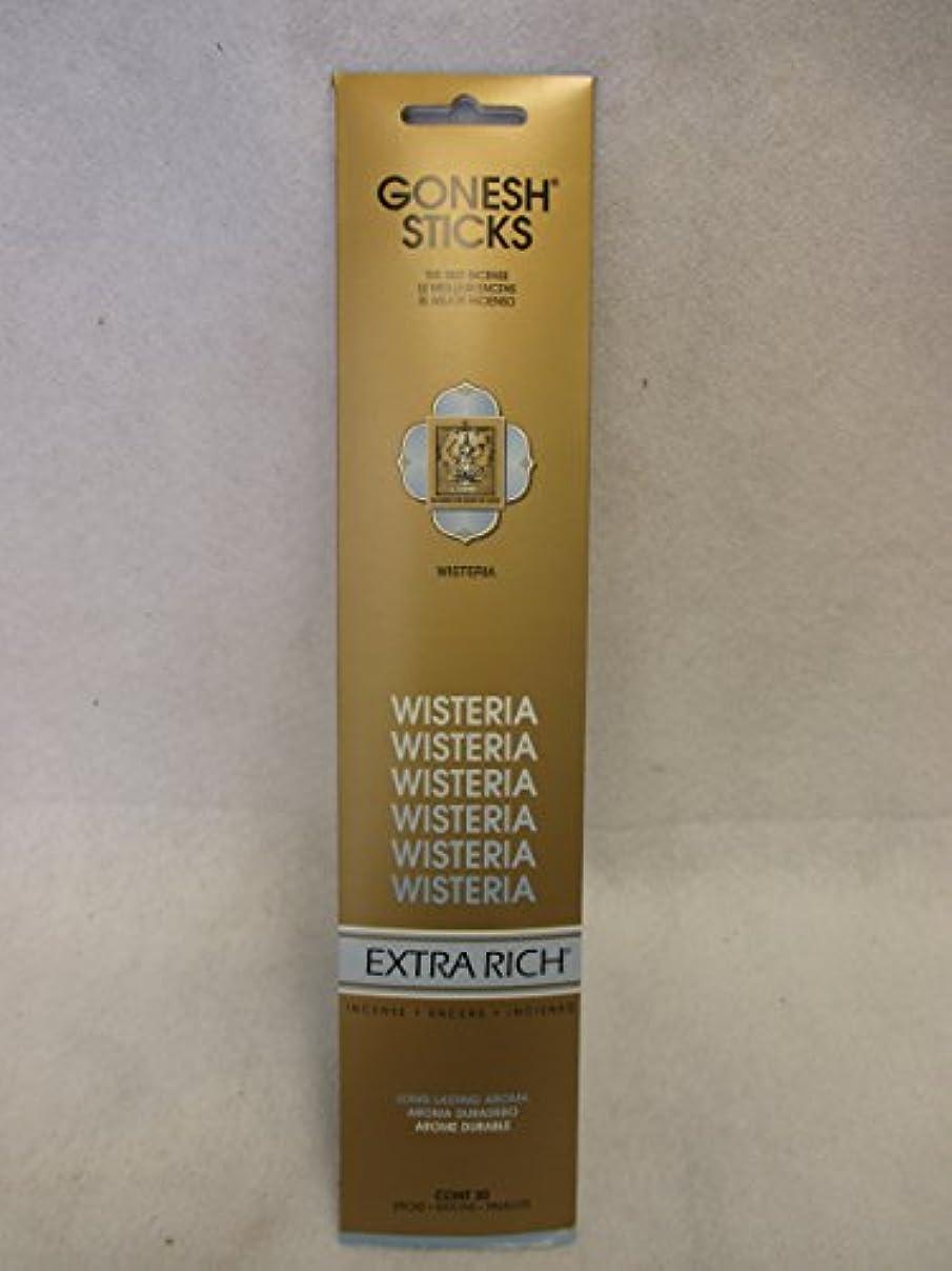 コーデリアセグメント脈拍Gonesh Extra Rich Incense Sticks Wisteria 12パックof 20 ( 240 Count )