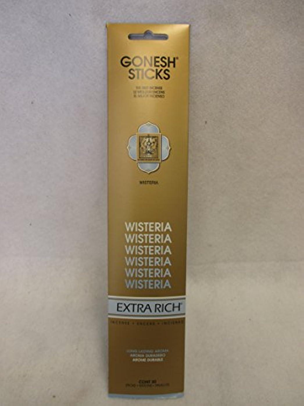 ヘリコプター組み合わせ助けになるGonesh Extra Rich Incense Sticks Wisteria 12パックof 20 ( 240 Count )