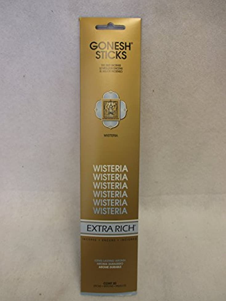 幾分楽な宗教Gonesh Extra Rich Incense Sticks Wisteria 12パックof 20 ( 240 Count )