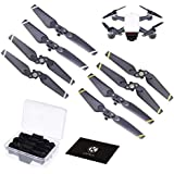 CamKix Propellers Replacement for DJI Spark - 2 Sets (8 Blades) - With Convenient Storage Box - Quick Release Foldable Wings - Flight Tested Design - Essential Accessory For Your DJI Spark Drone