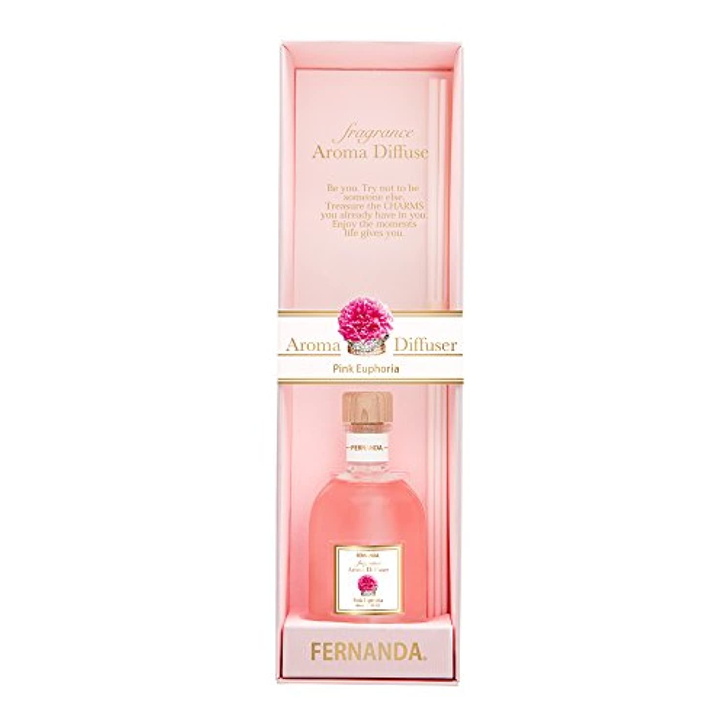 FERNANDA(フェルナンダ) Fragrance Aroma Diffuser Pink Euphoria (アロマディフューザー ピンクエウフォリア)