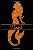 Mermaid Hannah Journal: College Ruled Notebook | Composition Book | Diary | Orange