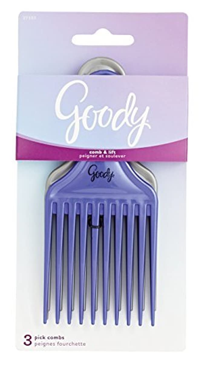 届けるページェント利点Goody Comb & Lift Hair Pick, 3 Count, Assorted Colors [並行輸入品]