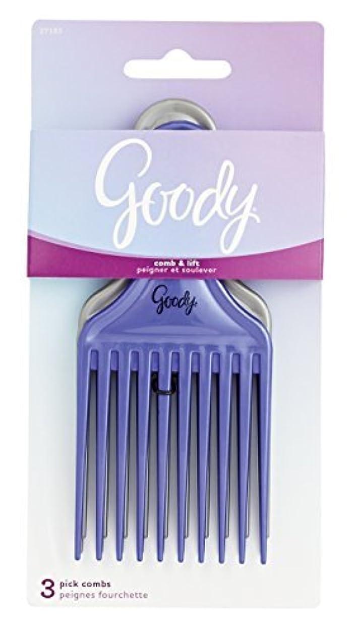 コールド浴冒険Goody Comb & Lift Hair Pick, 3 Count, Assorted Colors [並行輸入品]