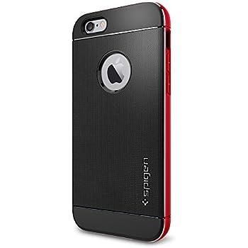 iPhone 6 ケース, Spigen® [ リアル アルミニウム バンパー ] ネオ・ハイブリッド メタル iPhone 4.7 (2014) The New iPhone アイフォン6 (国内正規品) (【ネオ・ハイブリッド メタル】メタル・レッド)
