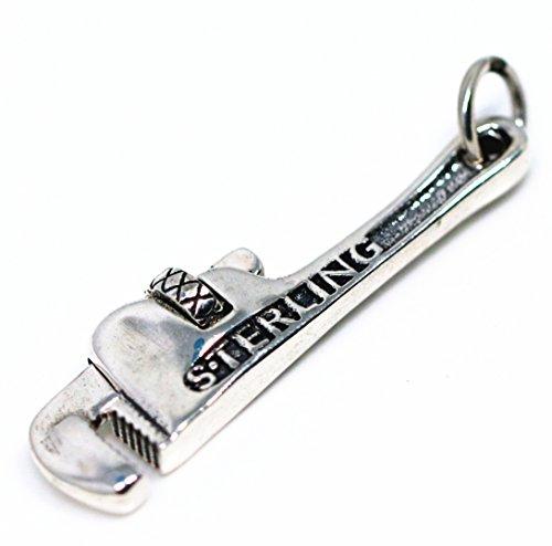 """[해외]""""silverKYASYA""""925 소재 파이프 렌치 펜던트 스타 별 공구 펜던트 남성 925/""""Silver KYASYA"""" silver 925 material pipe wrench pendant star star tool pendant men`s silver 925"""