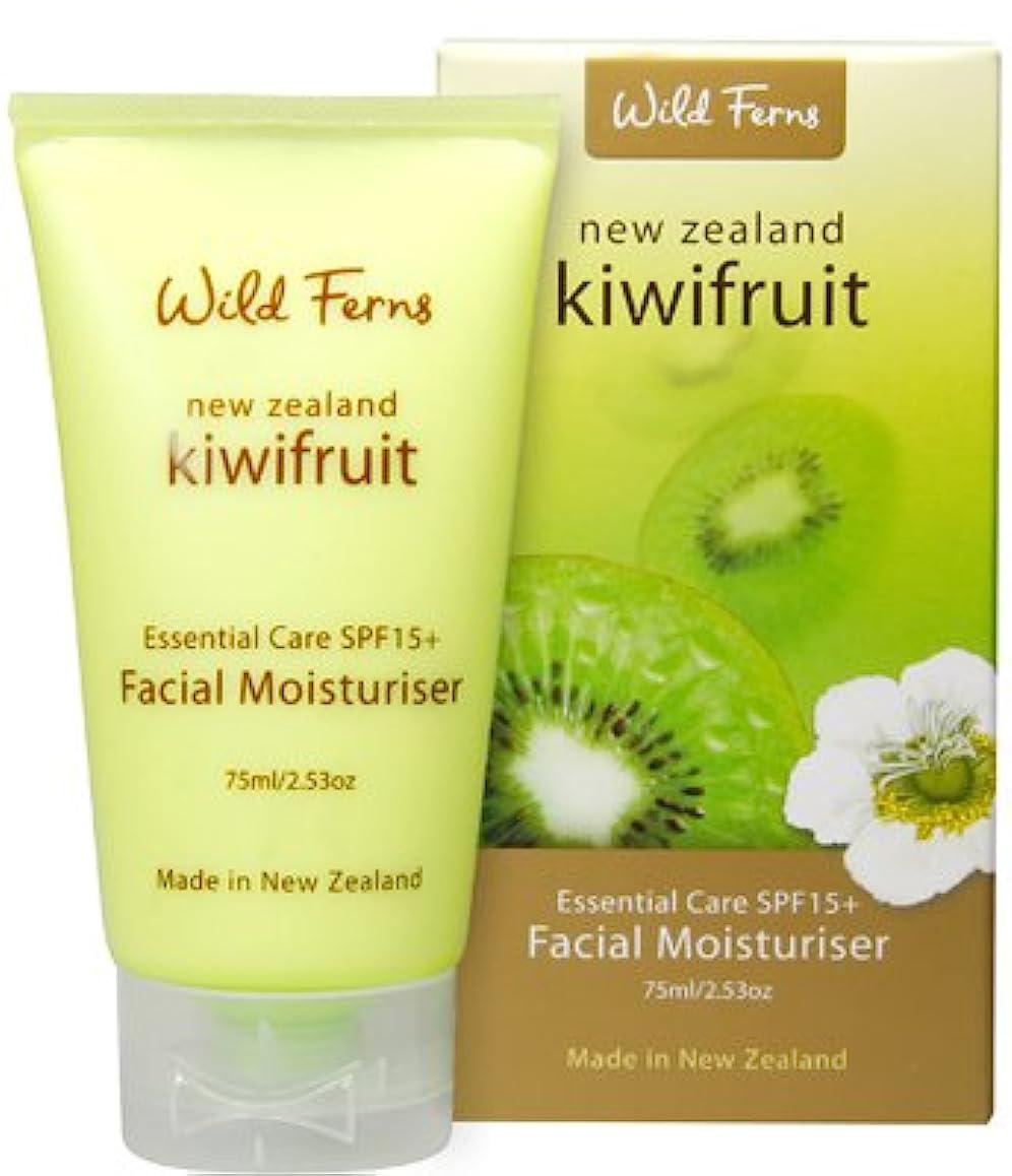 鉄道カバレッジぬれたキーウィフルーツ エッセンシャルケアSPF15+ フェイシャル保湿剤 (ニュージーランド限定品)