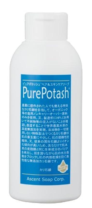 遠足キネマティクスさわやか食用の無農薬油脂使用 ピュアポタッシュヘア&スキンケアソープ(さっぱりタイプ)250g 3本セット