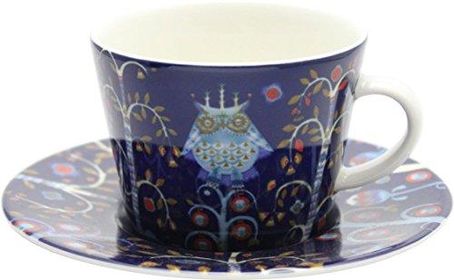 【正規輸入品】iittala (イッタラ) Taika (タイカ) カップ&ソーサー ブルー 0.2L/15cm