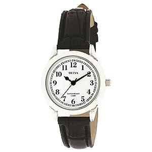 [クレファー]CREPHA 腕時計 アナログ 革ベルト 5気圧 防水 シルバー ホワイト TE-AL022-WTS レディース