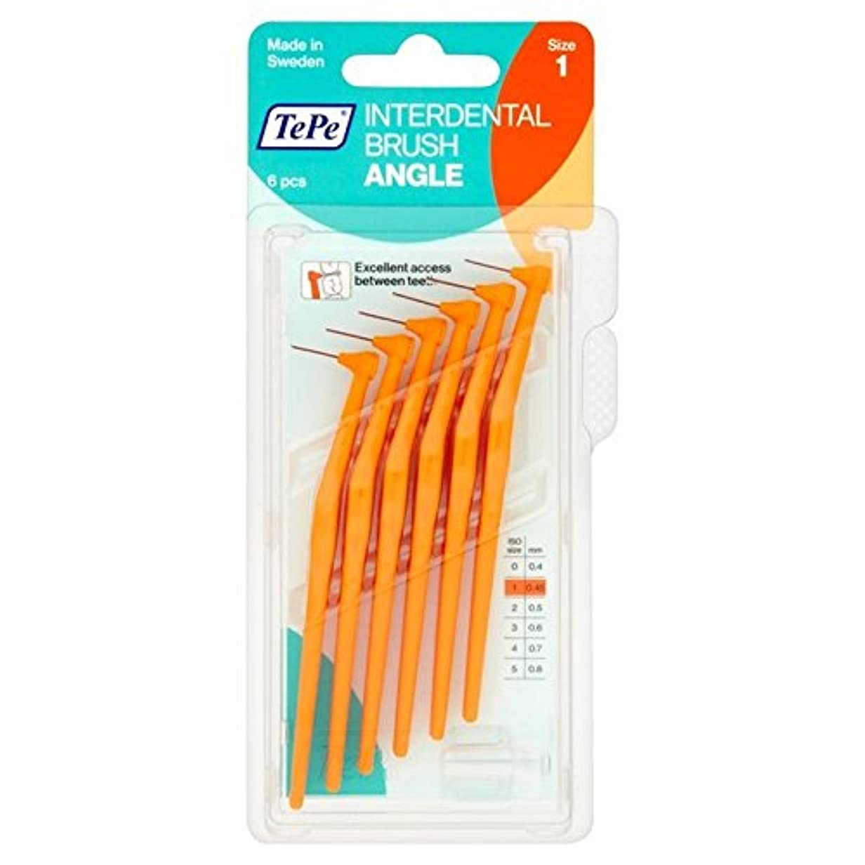 締め切りマトンランチTePe Angle Orange 0.45mm 6 per pack - テペ角パックあたりオレンジ0.45ミリメートル6 [並行輸入品]