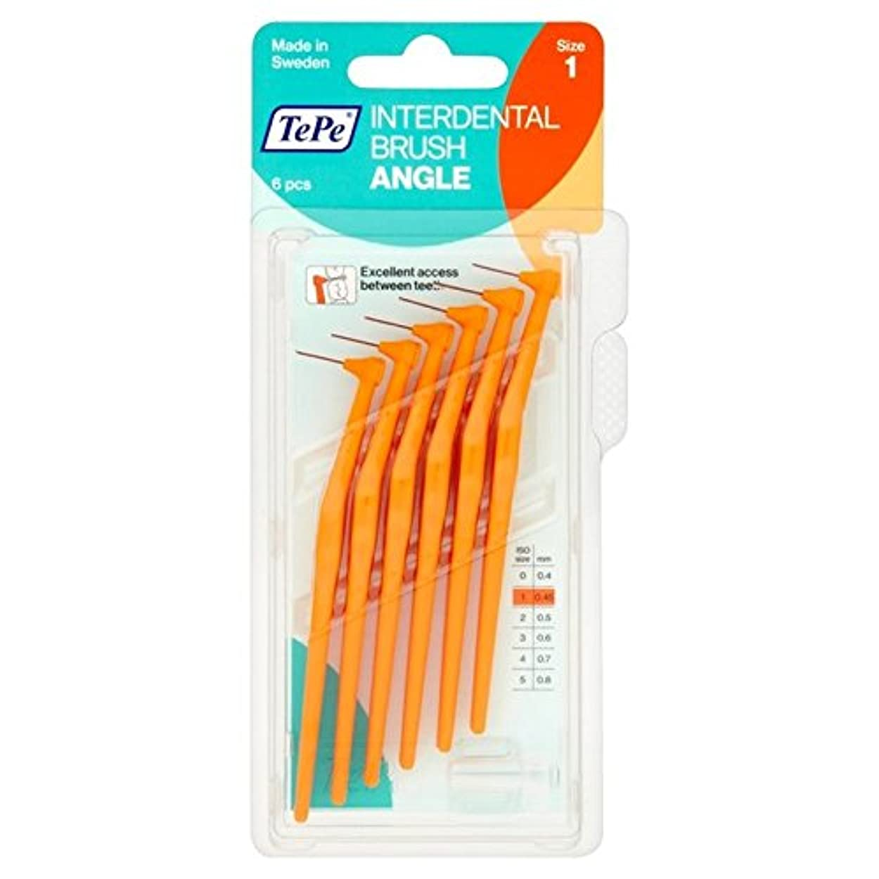火山補助対処するTePe Angle Orange 0.45mm 6 per pack - テペ角パックあたりオレンジ0.45ミリメートル6 [並行輸入品]
