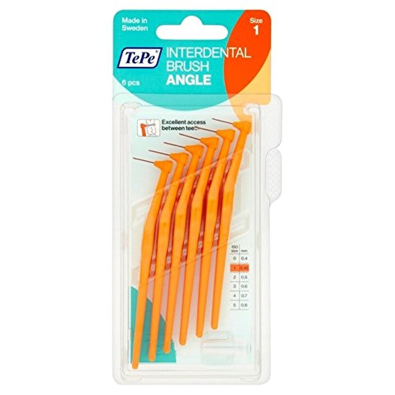 傀儡庭園説明的TePe Angle Orange 0.45mm 6 per pack - テペ角パックあたりオレンジ0.45ミリメートル6 [並行輸入品]