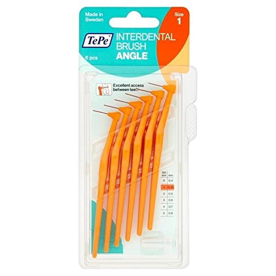 TePe Angle Orange 0.45mm 6 per pack - テペ角パックあたりオレンジ0.45ミリメートル6 [並行輸入品]