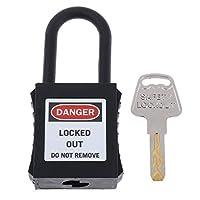 KESOTO 安全パドロック 南京錠 施設のロックアウト/タグアウト用 ロックアウト装置 キー シャックル - 黒2