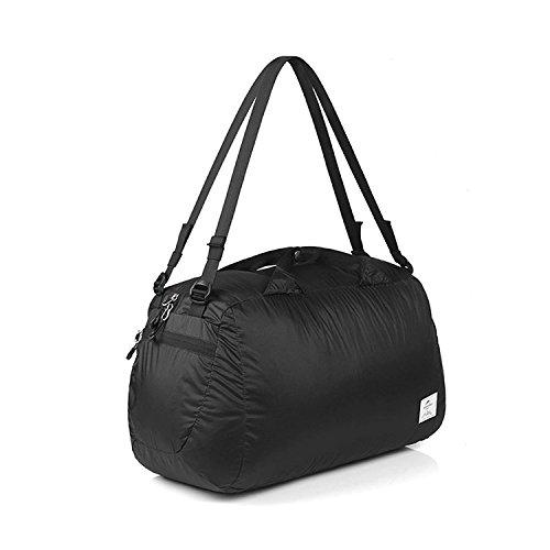 Naturehike公式ショップ スポーツバッグ 超軽量 折り畳み 防水旅行バッグ 32L 服収納 20D防水シリカゲルナイロン生地 (ブラック)