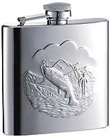 Visol Fisherman Stainless Steel Groomsmen Flask 6-Ounce Chrome [並行輸入品]
