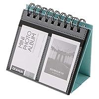 Baoblaze カレンダー式 68ポケット フォトアルバム 縦型 フリップ 自己接着 3インチ - 青