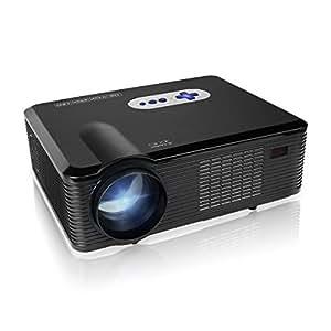 Mileagea HDプロジェクター 720p解像度 3000ルーメン高輝度 HDMI/USB/VGA/YPbPr/AV/Audio out/Digital TV対応 ランプ寿命50,000時間 多国言語対応 ブラック