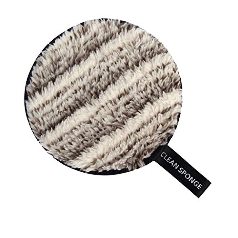 ドア再開木材フェイススポンジ メイク落としスポンジ 洗顔パッド 再利用可能 クリーニングパフ 全6色 - 白+褐色