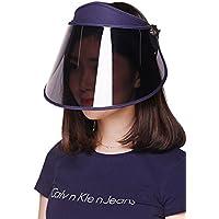 GOKEI_CO サンバイザー レディース レインハット レインバイザー 自転車 キャップ UVカット UPF50+ 紫外線対策 日焼け対策 つば広 ワイド 帽子 ブルー