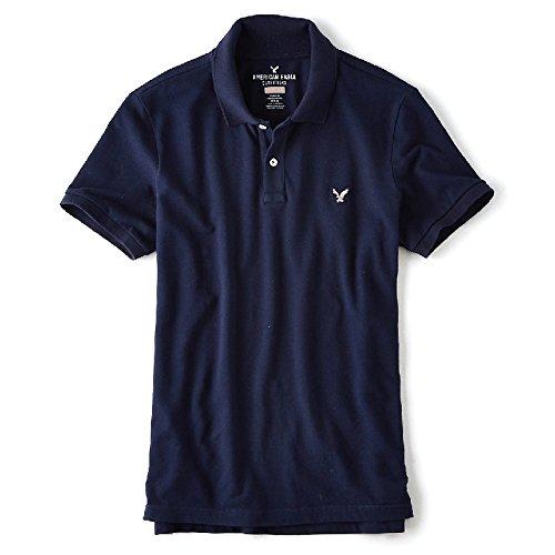 (アメリカンイーグル ) AMERICAN EAGLE/半袖 ワンポイント刺繍 ポロシャツ 大きい サイズ メンズ XL XXL XXXL (XL) [並行輸入品]