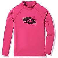 Tesla Boys & Girls UPF 50+ Short/Long Sleeve Rashguard Youth Surf Kids Swim Top