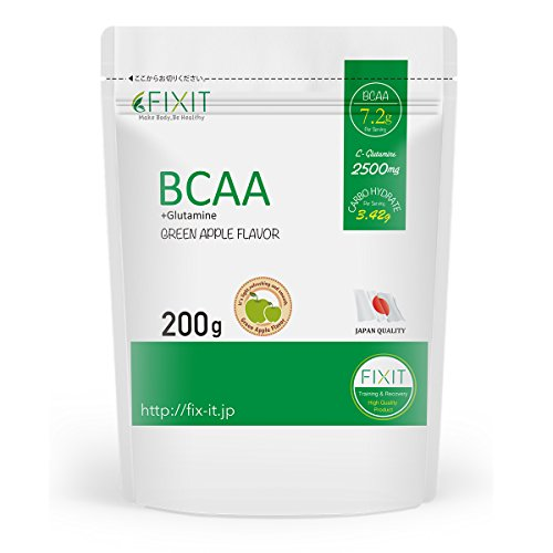 【 FIXIT 】 BCAA + GLUTAMINE 200g グリーンアップル