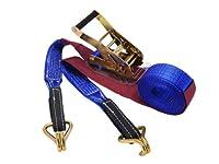 ラチェットバックル式ラッシングベルト(アイタイプ3t・Jフック3t) 幅 50mm 長さ 1m+7m 5713