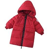 Macondoo Girls' Cotton-Padded Zipper Coat Boys Puffer Childrens Hoodie Down Jacket
