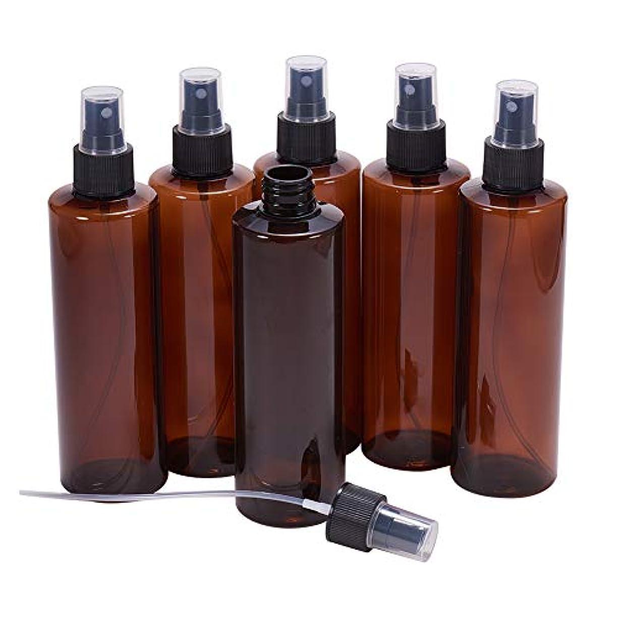 酸化物吸収剤アラブ人BENECREAT 250mlスプレーボトル 6個セット遮光瓶 小分けボトル プラスチック容器 液体用空ボトル 押し式詰替用ボトル 詰め替え シャンプー クリーム 化粧品 収納瓶
