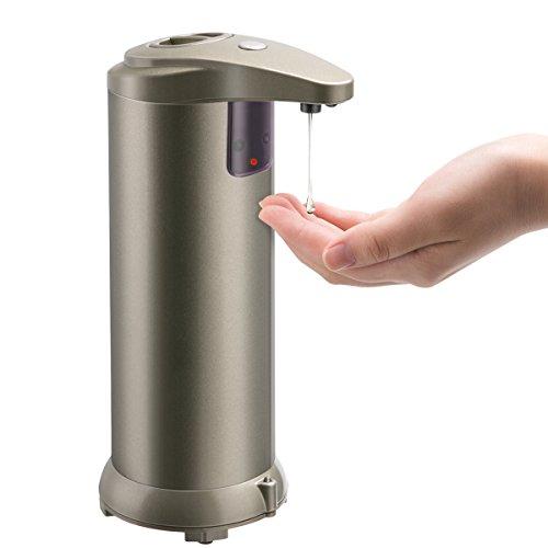 Foloda 自動ソープディスペンサー 液体ソープボトル オート赤外線センサー 吐出量3段調整可能 280ml 粘性液体に適用 消毒液/手洗い液/入浴剤/シャンプー キッチン/洗面所/トイレに適用