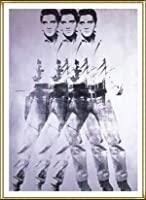 ポスター アンディ ウォーホル エルビス 1963 (トリプル エルビス) 額装品 アルミ製ハイグレードフレーム(ゴールド)