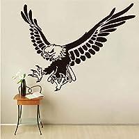 Xbwy イーグルフライング動物ウォールステッカー用キッズルームの壁の装飾取り外し可能なビニールウォールアートデカール家の装飾アクセサリー44×57センチ