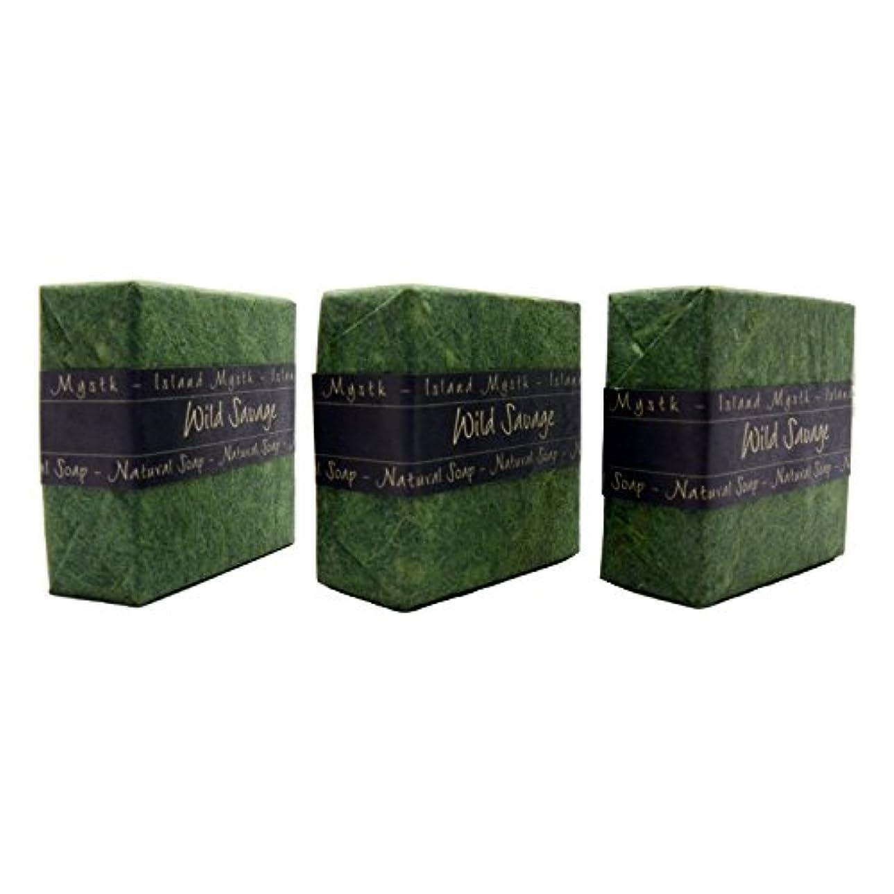 バレーボールハチつぼみアイランドミスティック ワイルドサーヴェージ 3個セット 115g×3 ココナッツ石鹸 バリ島 Island Mystk 天然素材100% 無添加 オーガニック