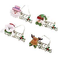 【ノーブランド品】 4個 メリークリスマス Merry Christmas デコレーション 壁 ドア ツリー 壁掛け ぶら下げ 全3パターン - #3