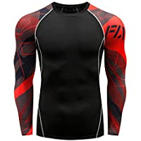 Mens Fitness Long Sleeves Rashguard T Shirt Men Bodybuilding Skin Tight Thermal Compression Shirts MMA Workout Top Gear