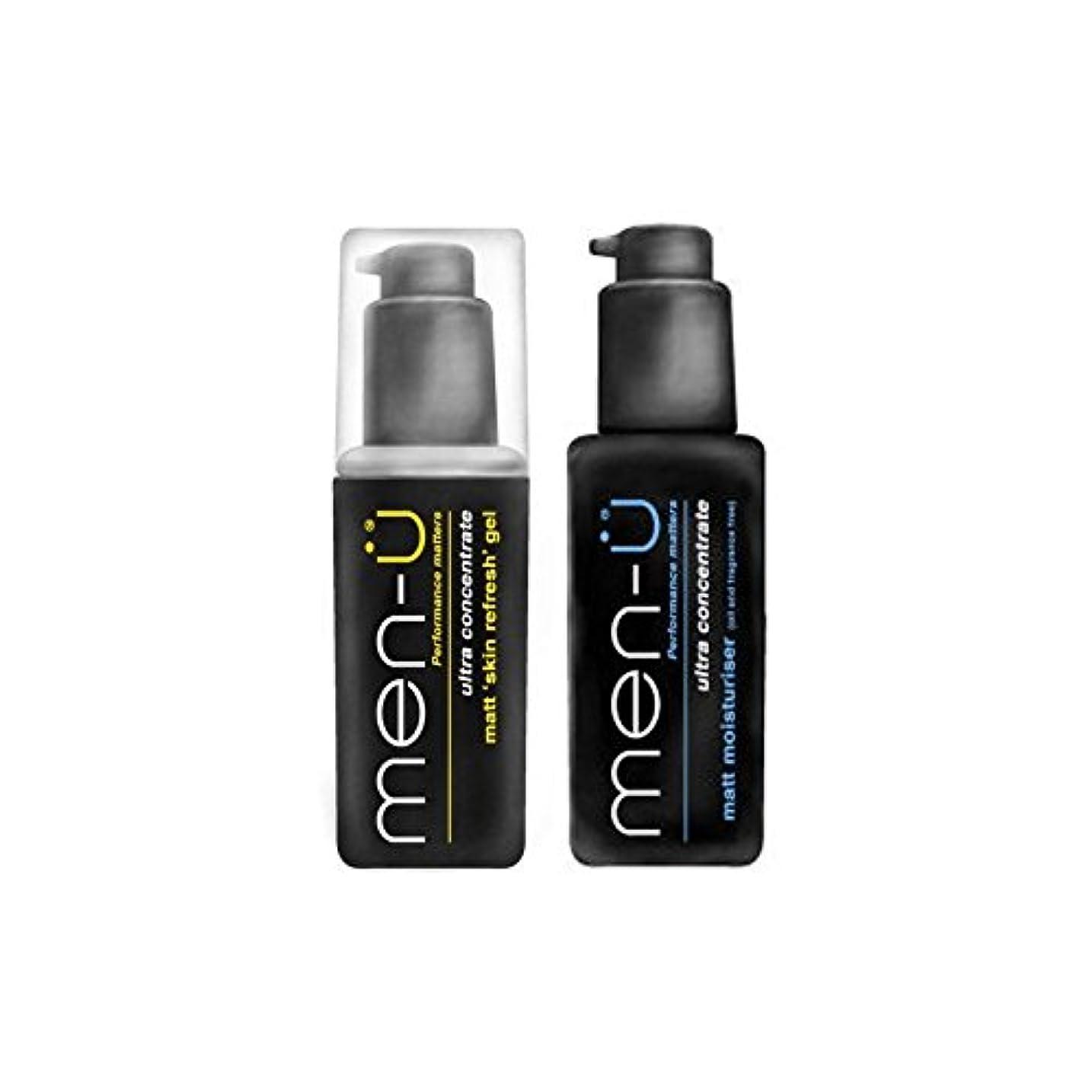葉を拾うコカインボットMen-? Matt Refresh And Moisturise Duo (Pack of 6) - 男性-のマットリフレッシュとデュオを保湿 x6 [並行輸入品]
