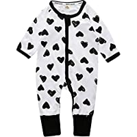 SERAPHY Unisex Cutie Printed Baby Clothes Baby Cotton One-Piece Rompers Breathable Jumpsuits Long Sleeve Bodysuits for Newborn